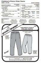 Kids Polar Pants #530 Sewing Pattern (Pattern Only) gp530 - $7.00