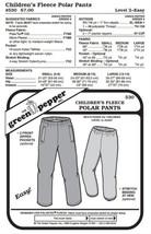 Kids Polar Pants #530 Sewing Pattern (Pattern Only) gp530 - $7.00
