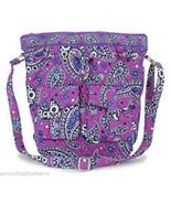Vera Bradley Quick Draw Boysenberry Cross Body Purse Purple Blue White Bag  - $109.95