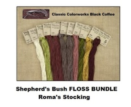 FLOSS BUNDLE Pearl Cotton (11 skeins) 2016 Roma's Stocking by Shepherd's... - $35.55