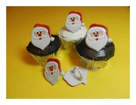 12 Santa Claus Cupcake Rings Christmas Toppers ... - $2.99