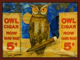 Owl Cigar Plasma Metal Sign - $29.95