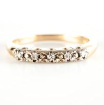 Vintage 1940's 14k Yellow & White Gold Round Diamond Wedding Ring / Band... - $350.00