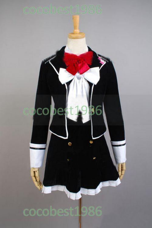 DIABOLIK LOVERS Yui Komori Cosplay Costume Overskirt Shirt Accessory Overcoat