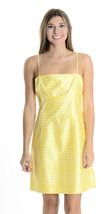 6 Nanette Lepore Yellow/White Silk Gingham Dress W Daisy Flower Strap Ne... - $68.32 CAD