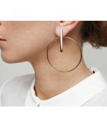 New Korean Simple Aros Hoop Earrings for Women Geometric Big Circle Ear  - $7.63