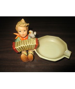 M.J.Hummel Figurine #114 Vintage Lets Sing Accordian Boy Ashtray 1950's ... - $48.95