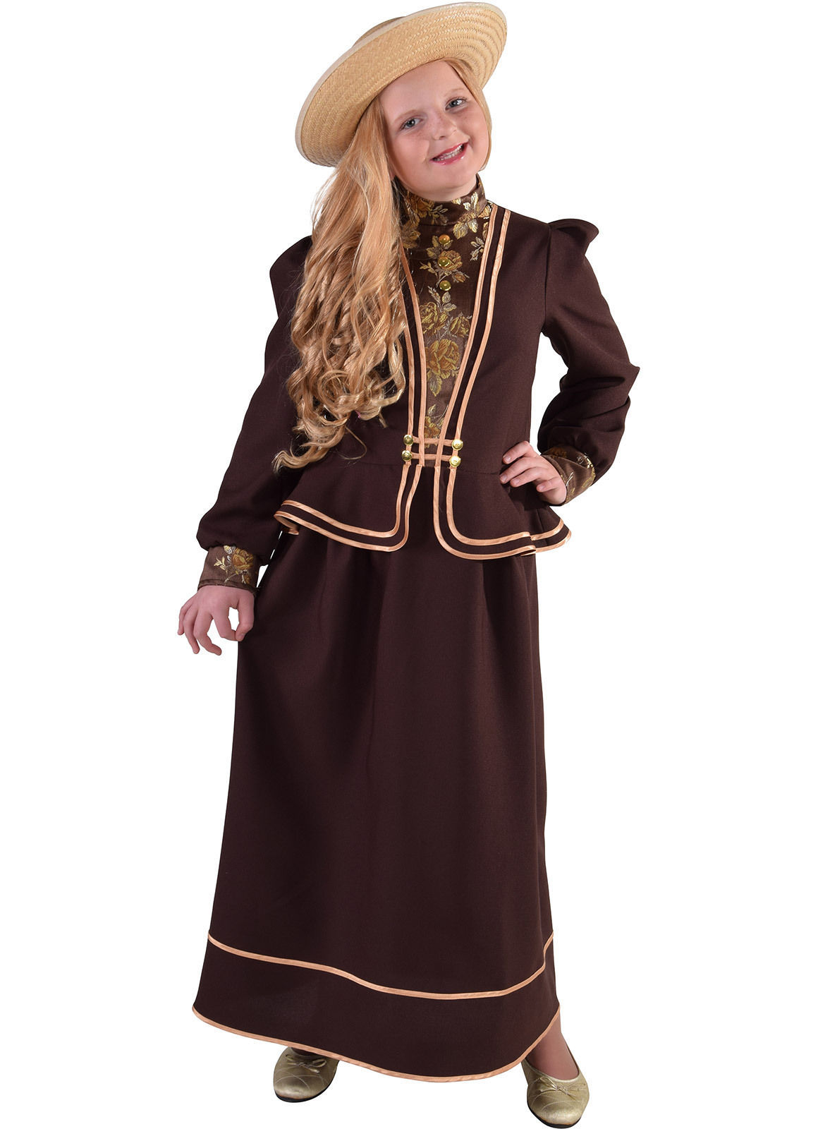 Girls  -  Victorian , Little Lady   Costume   - ages 3 to 14