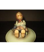 M.J.Hummel Figurine III/69 Vintage Meditation/Knitting Girl Covered Cand... - $275.00