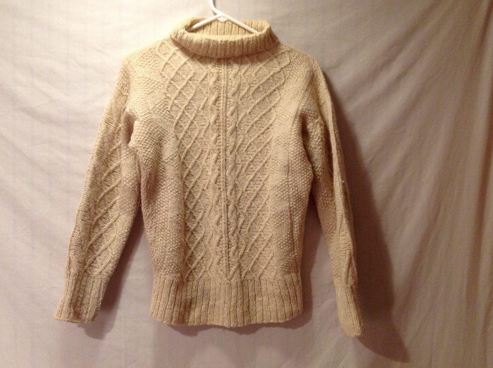 Unisex Turtleneck Sweater Handmade Irish Knit