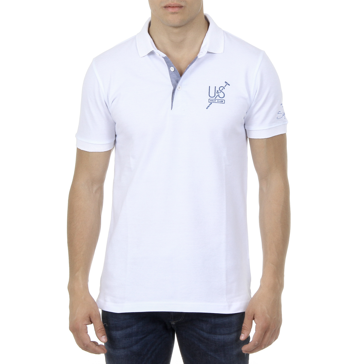 Primary image for Ufford & Suffolk Polo Club Mens Polo Short Sleeves US026 WHITE