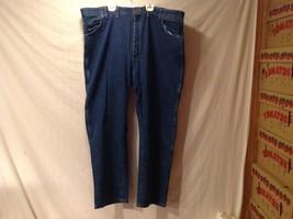 Mens WRANGLER Dark Blue Denim Jeans