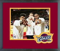 Iman Shumpert, Kevin Love, & LeBron James with Rings 10/25/16-11x14 Framed Photo - $42.95