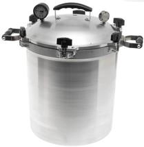 30 Quart Pressure Cooker Canner Aluminum Geared Steam Gauge 19 Inch x 12... - €326,43 EUR