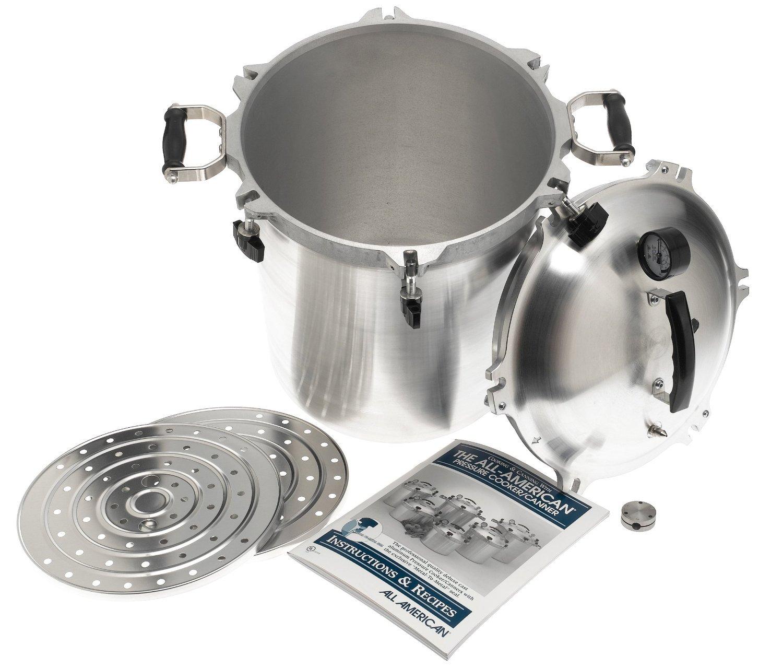 Steam Pressure Cooker: 30 Quart Pressure Cooker Canner Aluminum Geared Steam
