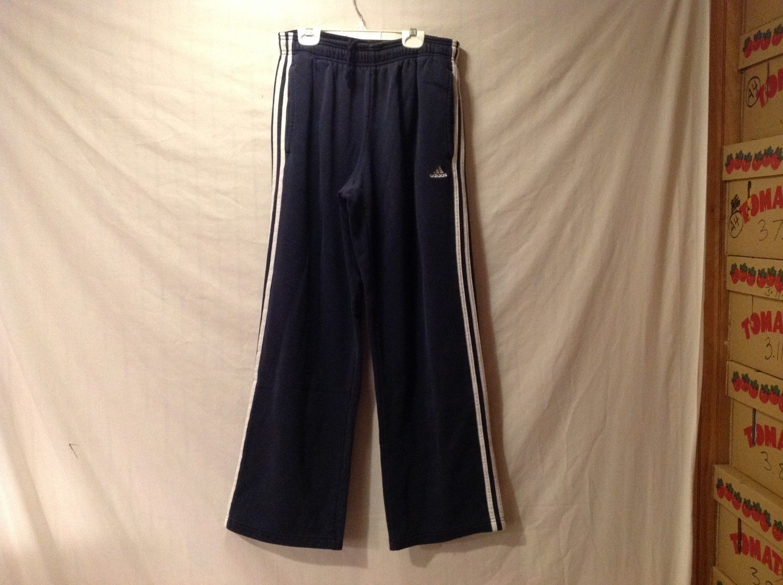 Mens ADIDAS Navy Sweatpants Size M