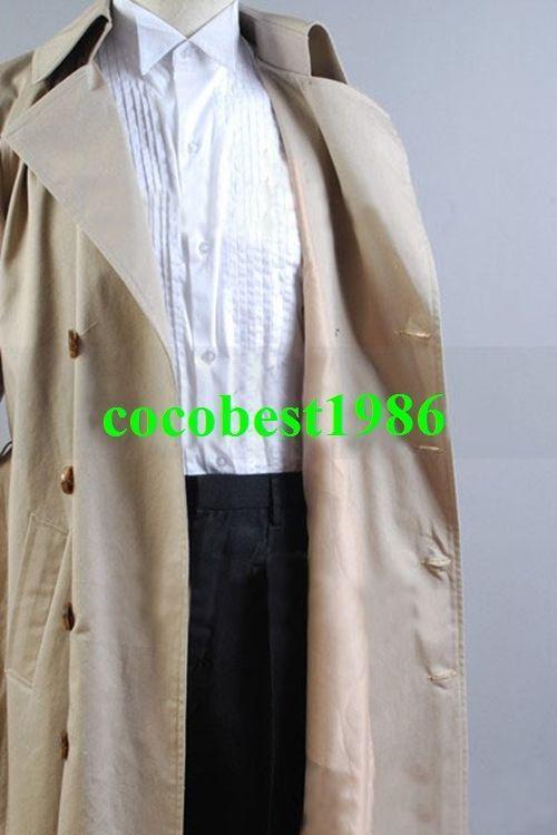 Supernatural Castiel Twill Trench Coat Costume any size coat pants shirt