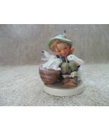 M.J.Hummel Figurine #58/0 Vintage Playmates Boy w/Bunnies 1950's Western... - $249.00