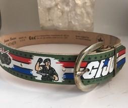 Vintage G.I. Joe Leather Belt By Lee Size 18-22 NOS Green 1987 - $19.28