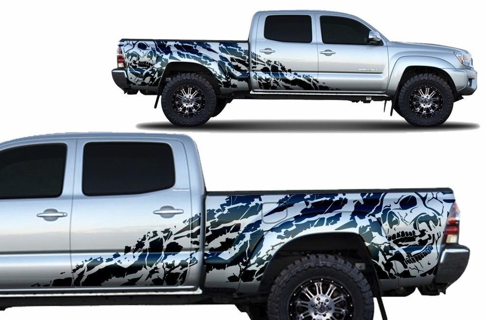 Custom Vinyl Decal Nightmare Wrap For 4d Long Bed Toyota