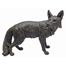 "25"" Realistic Victorian Garden Art Replica Fox Animal Wildlife Garden Decor - $277.15"