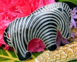 Vintage zebra brooch pin enamel black stripes sterling silver figural thumb155 crop
