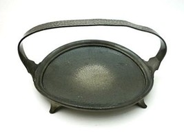 Antique English Arts and Crafts Pewter Dish 1910-1920, D 23.5 cm - $78.40