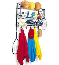 Sports Rack Organizer Wall Mount Holder Ball Eq... - $39.99