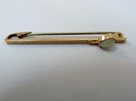 Splendid Vintage 9K Rose Gold Brooch Pin, w/Gorgeous Oval Opal Gemstone L4.3 cm - $225.40