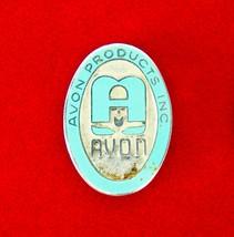 Vintage Mid-Century Avon Cosmetics Sterling Silver & Enamel Brooch Pin   - $23.20
