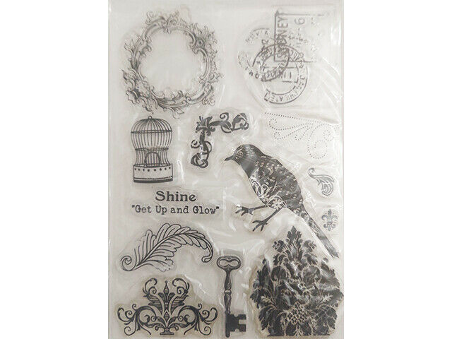 """Shine """"Get Up and Glow"""" Clear Stamp Set"""