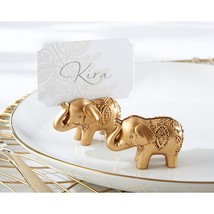 Lucky Golden Elephant Place Card Holders (Set of 48) - $111.95