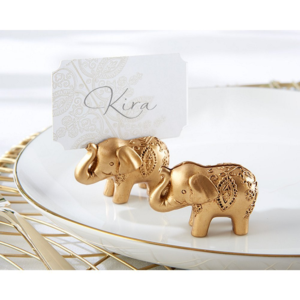 Lucky Golden Elephant Place Card Holders (Set of 42)