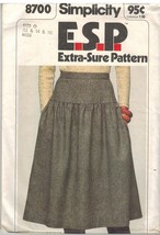 8700 Vintage Simplicity Sewing Pattern Misses Yoked Skirt ESP Extra Sure... - $4.89