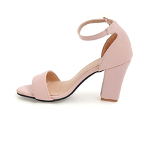 Sale Sandals Summer Women Heels Larg Square Party KarinLuna 2018 Shoes Hot High XqAZpEZw