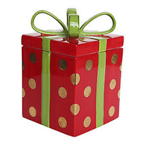 Holiday Candy Jar, Ceramic Gift Box, 8-In. - $34.64