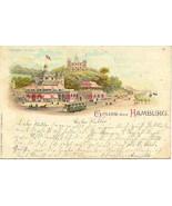 Gruss aus From Hamburg Germany Vintage 1898 Post Card - $15.00