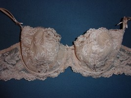 470ef892c54c8 Cabernet 34D NWOT Light Lined Underwire Full Coverage Pink w Floral Lace  Overlay -  10.13