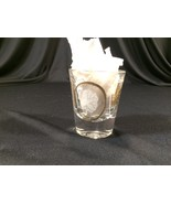 "Vintage Shot Glass Gold & White Leaves Collectible 2-1/4"" - $12.99"