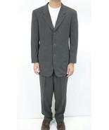 33x29 40R Giorgio Armani Le Collezioni Gray Suit Pleated Pant 3 Button B... - £283.63 GBP