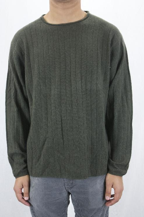 L Club Room by Charter Club Mens Olive Green Cashmere Crew Neck Sweater WPL8046