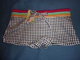 Unbranded Boyshort Size M NWT Checks & Stripes Cotton & Spandex - $5.66