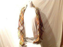 NEW Gorgeous Squared-Shaped Multi-colored Frindged Scarf Shawl