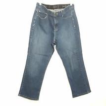 LEE womens jeans 16x26 blue high rise straight leg stretch denim plus si... - $25.88