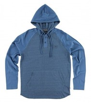 O'Neill THE BAY Boys Youth 2-Button Henley Pullover Hoodie Medium Blue N... - $42.00