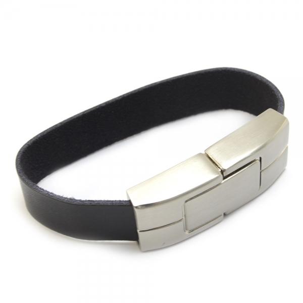 16GB Bracelet Leather USB Flash Drive Black - Computers ...