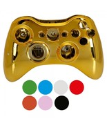 Wireless controller shell case for xbox 360 plating gold nologo 600x600 thumbtall
