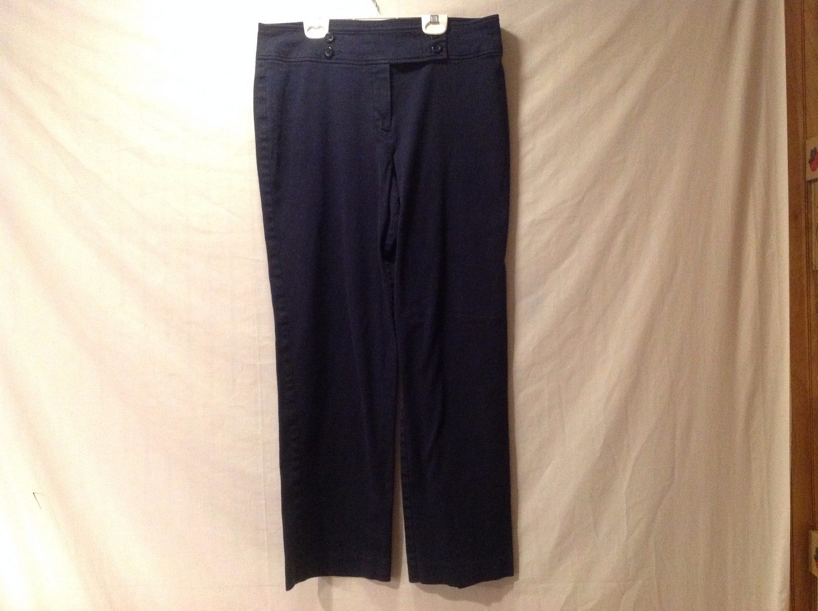 Great Condition Ninety Zipper Button Navy Pants