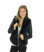 NEW XS Tart Collections Staly Black Faux Fur Ja... - $125.38