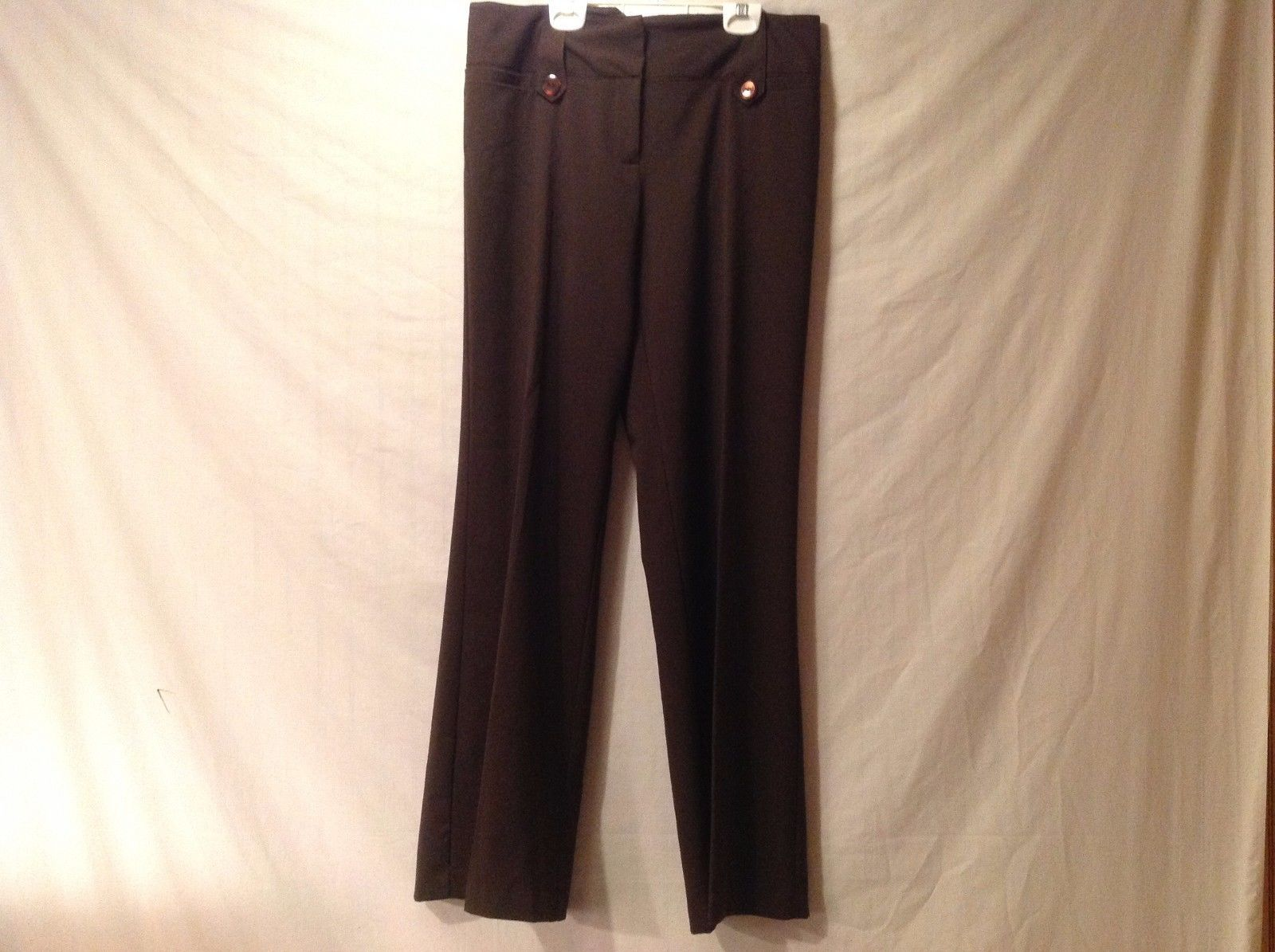 Great Condition IZ Byer NY Fit Size 9 Pants Polyester Blend 100% Cotton Brown
